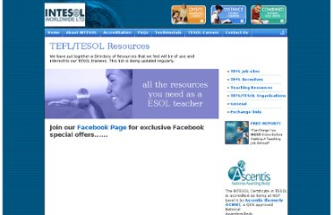 http://www.intesolinternational.com/tesol-tefl-resources.shtml#resources