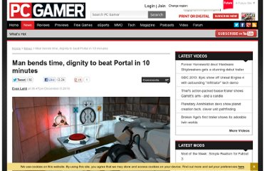 http://www.pcgamer.com/2010/12/09/man-bends-time-dignity-to-beat-portal-in-10-minutes/