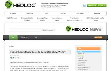 http://www.hedloc.com/news/all/hedloc-adds-social-spice-sugarcrm-jiveworld11
