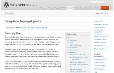 http://codex.wordpress.org/Template_Tags/get_posts