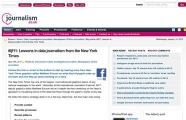 http://blogs.journalism.co.uk/2011/04/16/ijf11-lessons-in-data-journalism-from-the-new-york-times/