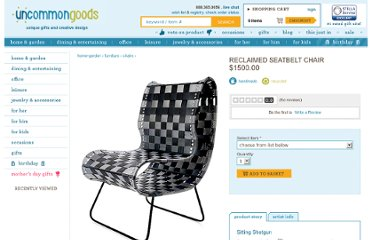 http://www.uncommongoods.com/product/reclaimed-seatbelt-chair
