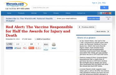 http://articles.mercola.com/sites/articles/archive/2011/11/02/why-is-this-vaccine-causing-increased-infant-mortality.aspx