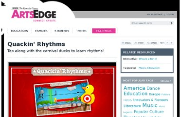 http://artsedge.kennedy-center.org/multimedia/Interactives/quack-and-whack/quackin-rhythms.aspx