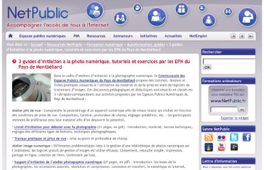 http://www.netpublic.fr/2011/11/3-guides-d-initiation-a-la-photo-numerique-tutoriels-et-exercices/