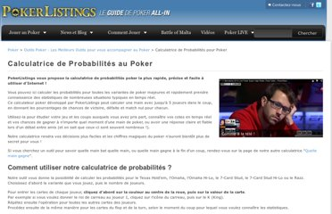 http://fr.pokerlistings.com/calculatrice-probabilites-poker