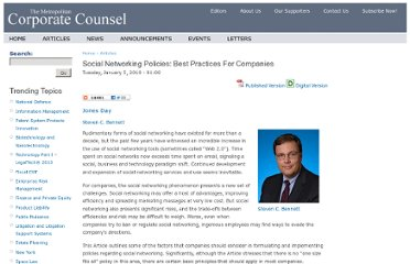http://www.metrocorpcounsel.com/articles/12109/social-networking-policies-best-practices-companies