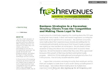 http://freshrevenues.posterous.com/business-strategies-in-a-recession-stealing-c