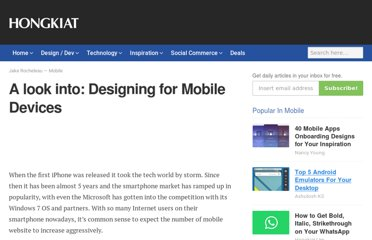 http://www.hongkiat.com/blog/designing-for-mobile-devices/