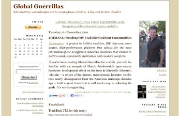 http://globalguerrillas.typepad.com/globalguerrillas/2011/11/journal-funding-diy-tools-for-resilient-communities.html