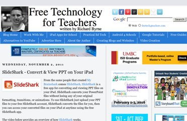 http://www.freetech4teachers.com/2011/11/slideshark-convert-and-view-ppt-files.html
