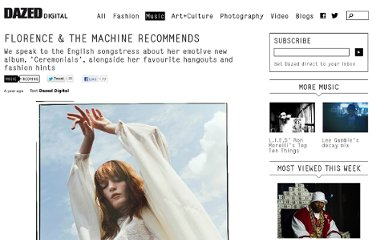http://www.dazeddigital.com/music/article/11881/1/florence-the-machine-recommends