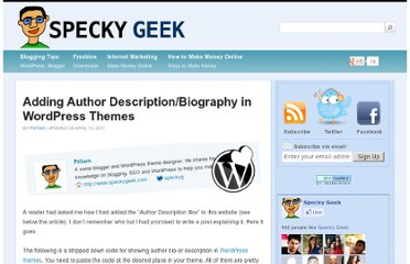 http://www.speckygeek.com/adding-author-descriptionbiography-in-wordpress-themes/