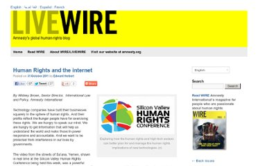http://livewire.amnesty.org/2011/10/31/human-rights-and-the-internet/