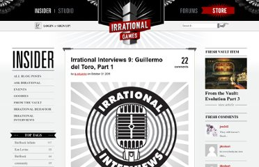 http://irrationalgames.com/insider/irrational-interviews-9-guillermo-del-toro-part-1/