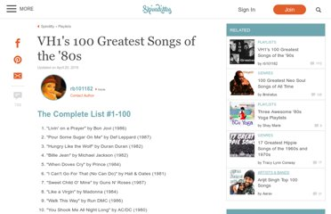 http://rb101182.hubpages.com/hub/Top-100-Songs-of-the-80s
