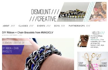 http://www.dismountcreative.com/diy-ribbon-chain-bracelets-from-magiclv