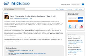 http://scoop.intel.com/intel-corporate-social-media-training-remixed/