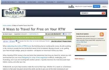 http://www.bootsnall.com/articles/11-09/8-ways-to-travel-for-free-on-your-rtw.html