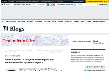 http://lemonde-educ.blog.lemonde.fr/2011/11/03/zoran-popovic-les-jeux-scientifiques-vont-revolutionner-les-apprentissages/