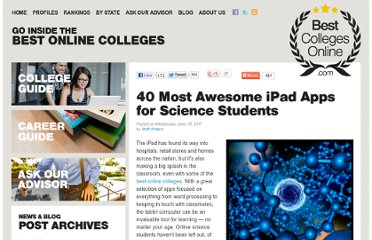 http://www.bestcollegesonline.com/blog/2011/06/15/40-most-awesome-ipad-apps-for-science-students/#