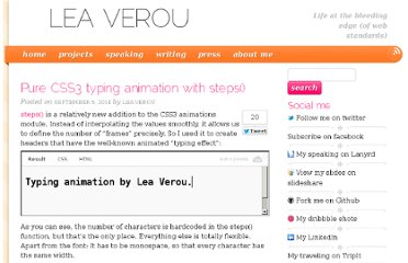 http://lea.verou.me/2011/09/pure-css3-typing-animation-with-steps/