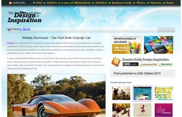 http://thedesigninspiration.com/articles/holden-hurricane-the-first-ever-concept-car/