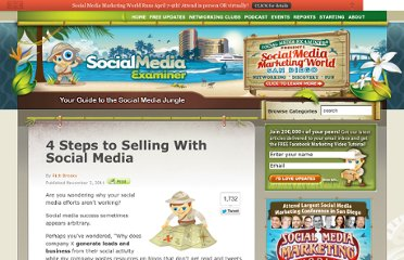 http://www.socialmediaexaminer.com/4-steps-to-selling-with-social-media/