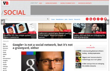 http://venturebeat.com/2011/11/03/google-plus-is-not-a-social-network/