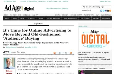 http://adage.com/article/digitalnext/time-online-advertising-move-fashioned-audience-buying/230788/