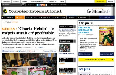 http://www.courrierinternational.com/article/2011/11/03/charia-hebdo-le-mepris-aurait-ete-preferable