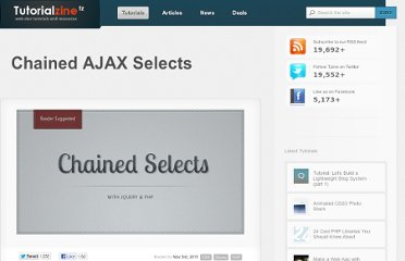 http://tutorialzine.com/2011/11/chained-ajax-selects-jquery/