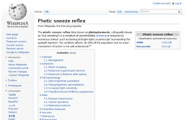 http://en.wikipedia.org/wiki/Photic_sneeze_reflex