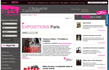 http://www.arts-programme.com/city/expositions/Paris