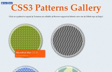 http://lea.verou.me/css3patterns/