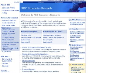 http://www.rbc.com/economics/index.html