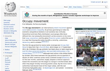 http://en.wikipedia.org/wiki/Occupy_movement
