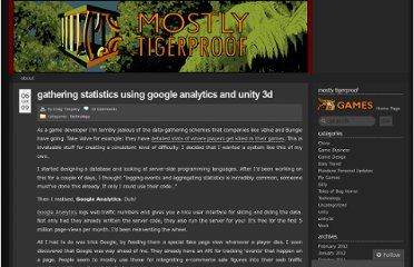http://blog.mostlytigerproof.com/2009/10/06/gathering-statistics-using-google-analytics-and-unity-3d/