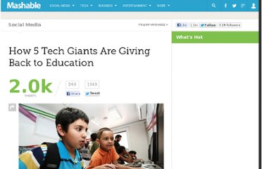 http://mashable.com/2011/11/04/tech-philanthropy-education/