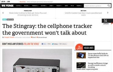 http://www.theverge.com/2011/11/4/2535697/stingray-cellphone-tracker-government-wont-talk-about