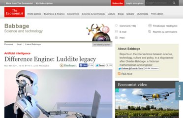 http://www.economist.com/blogs/babbage/2011/11/artificial-intelligence