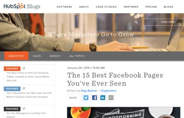 http://blog.hubspot.com/blog/tabid/6307/bid/28441/The-15-Best-Facebook-Pages-You-ve-Ever-Seen.aspx