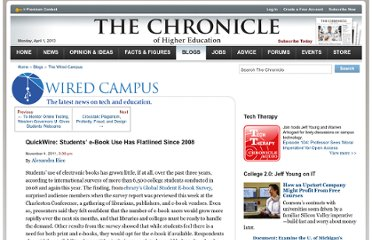 http://chronicle.com/blogs/wiredcampus/quickwire-student-e-book-use-has-flatlined-since-2008/34113