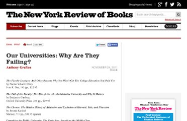 http://www.nybooks.com/articles/archives/2011/nov/24/our-universities-why-are-they-failing/?pagination=false