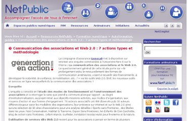 http://www.netpublic.fr/2011/11/communication-des-associations-et-web-2-0-7-actions-types-et-methodologie/