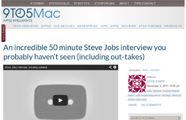 http://9to5mac.com/2011/11/04/a-incredible-50-minute-steve-jobs-interview-you-probably-havent-seen-including-out-takes/