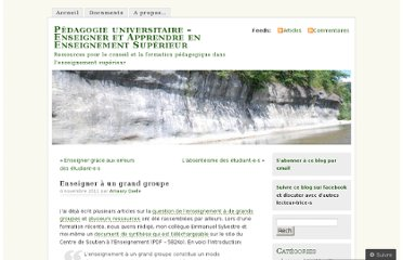 http://pedagogieuniversitaire.wordpress.com/2011/11/04/enseigner-a-un-grand-groupe/