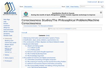 http://en.wikibooks.org/wiki/Consciousness_Studies/The_Philosophical_Problem/Machine_Consciousness