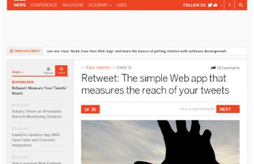 http://thenextweb.com/apps/2011/11/05/retweet-the-simple-web-app-that-measures-the-reach-of-your-tweets/