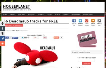 http://www.houseplanet.dj/index.php/February-2008/56-Deadmau5-tracks-for-FREE.html